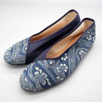 苗族バティックルームシューズ Miao Batik Room Shoes