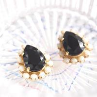 Colorful bijou pierces / earrings - Jet