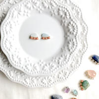 Gemstone  pierce/earring - Aquamarine