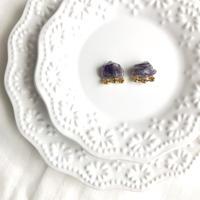 Gemstone pierce / earring - Amethyst 2