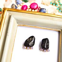 Gemstone pierces / earrings - Onyx