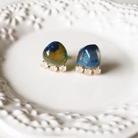 Gemstone pierces - Blue agate 2