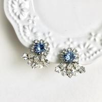 [Dress me up] Bijou pierce/earrings - Light safire