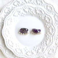 Gemstone pierce / earring - Amethyst 3