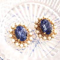 Colorful bijou pierces / earrings - Tanzanite