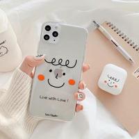 Blush cutie clear iphone case