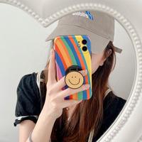 Rainbow smile grip iphone case