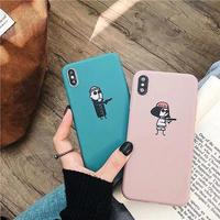 Leon Matilda blue pink iphone case