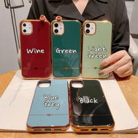 Heart line metal side iphone case
