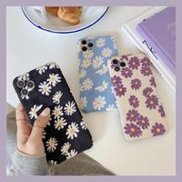 Daisy pattern fabric iphone case