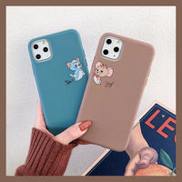 Baby mouse cat brown blue  iphone case
