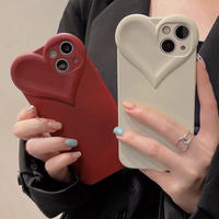 Autumn heart shape iphone case