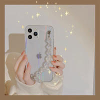 Laser clear strap iphone case