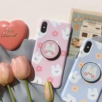 Cotton rabbit hard  with grip iphone case