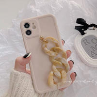 Marble beige strap iphone case