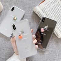 Avocado peach orange clear iphone case