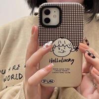 Hello lucky girl iphone case