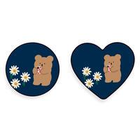 Flower bear grip for phone 564