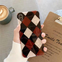 Winter red check iphone case