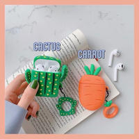 Carrot cactus airpods case