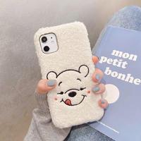 White bear fur iphone case