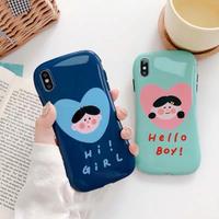 Hello boy hi girl  iphone case