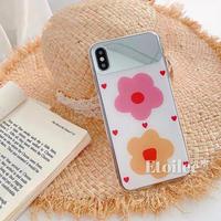 Pink yellow flower  mirror iphone case