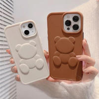 Bear ivory brown iphone case