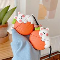 Big carrot rabbit airpods case