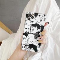 Faces black line iphone case