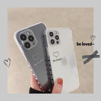 Be loved white black clear iphone case