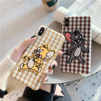 Mouse check fabric iphone case
