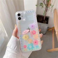 Pastel flowers quicksand iphone case