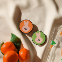 Rabbit orange green grip for phone
