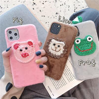 Animal knit fabric iphone case