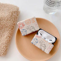 Animal drawing  square airpods case