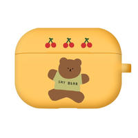 Jumping cherry bear airpods case(Yellow) 216