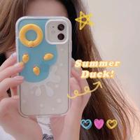 Summer duck toy iphone case