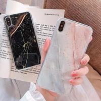 Black multi marble iphone case