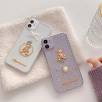 Bear ribbon pearl iphone case