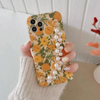 Summer flower  pearl strap iphone case