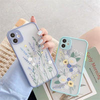 Lavender flowers color side iphone case