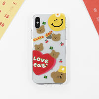Love eat clear with grip case  548