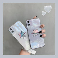 Mouse cat face clear iphone case