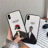Leon Matilda black side iphone case