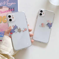 Mouse cat together clear iphone case