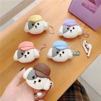 Dog pastel hat airpods case