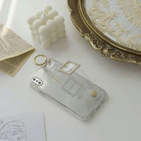 Clear jewel strap  iphone case