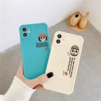 Leon Matilda white blue iphone case