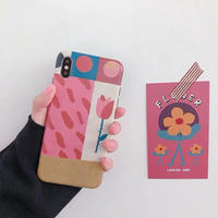 Flower patchwork iphone  case